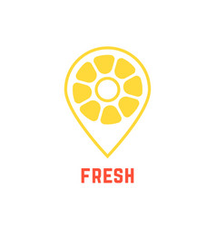 Lemon icon like map pin vector