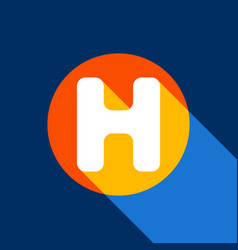 letter h sign design template element vector image vector image