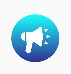 Loudspeaker icon megaphone bullhorn sign vector