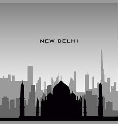 New delhi cityscape vector