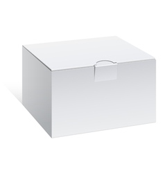 Realistic White Package Box For electronic device vector image vector image