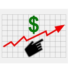 Rise equity price of dollar vector