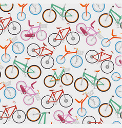seamless bicycles pattern vector image