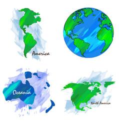 Set of world maps vector
