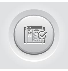 Setup campaign icon grey button design vector