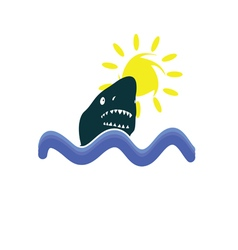 shark in the sea icon vector image