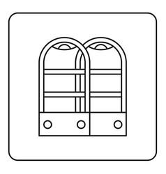 Shop security anti theft sensor gates icon outline vector