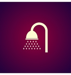 Shower icon Flat design style vector image
