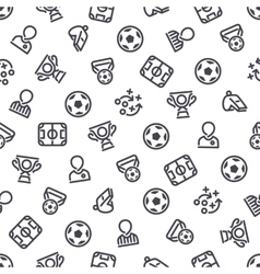 Soccer Icons Seamless Background vector image vector image