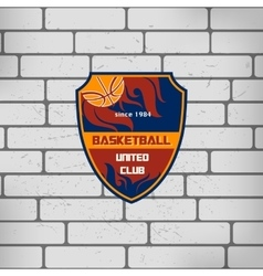 sport basketball team logo college crest vector image