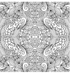 symmetric outline ornamental floral pattern vector image vector image