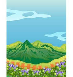 The high mountains vector image