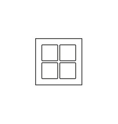tile simple line graphic web icon vector image