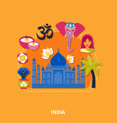 Travel to india background vector