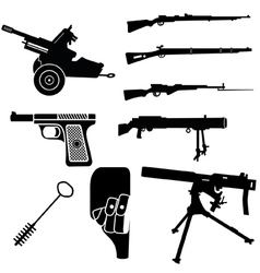weapon and artillery 2 vector image vector image
