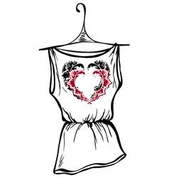 t-shirt heart vector image