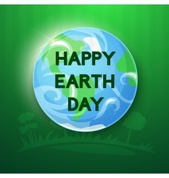 Happy earth day ilustration vector