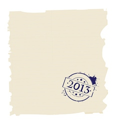 2013 stamp on paper vector