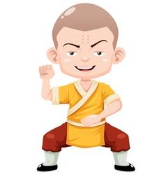 Kung fu kid vector image