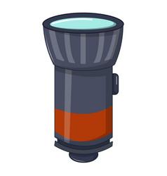 Flashlight icon cartoon style vector
