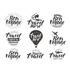 Travel label set journey symbol or icon vector