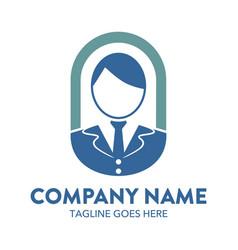 businessman logo-10 vector image