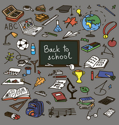 Set back to school vector