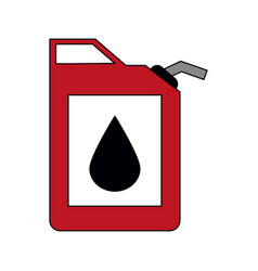colorful graphic fuel container with petroleum vector image