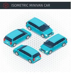 green minivan car vector image