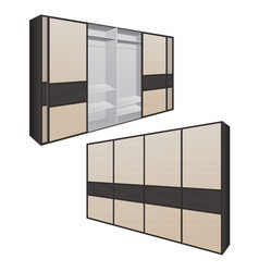 Sliding door wardrobe or dressing room changing vector