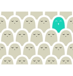 Colorful simple pattern  crowd vector