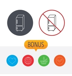 Refrigerator icon fridge sign vector