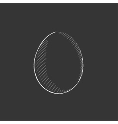 Egg drawn in chalk icon vector