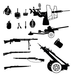 weapon and artillery vector image