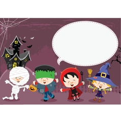 Halloween message vector