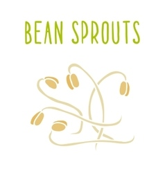 Bean sprouts isolated on white vector