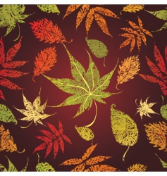 autumn leaves seamless vector image vector image