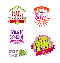 Back to school labels collection vector