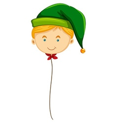 Christmas theme with balloon of an elf vector