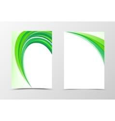 Green flyer template design vector image vector image