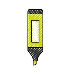 Highlighter pen isolated icon vector