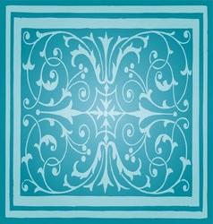 Light Blue Floral Luxury Ornamental Pattern vector image vector image