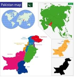Pakistan map vector image vector image