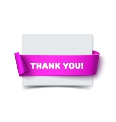 Paper horizontal greeting card with curved lilac vector