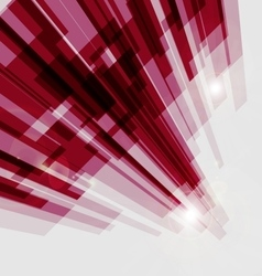 Perspective red abstract straight lines background vector image