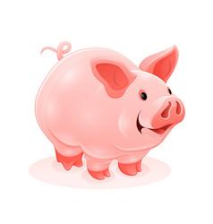 pink piggy young cartoon vector image