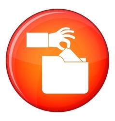 Robbery secret data in folder icon flat style vector