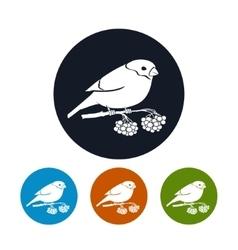 Round icons bullfinch vector