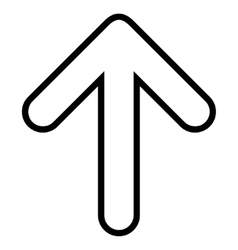 Rounded arrow up contour icon vector
