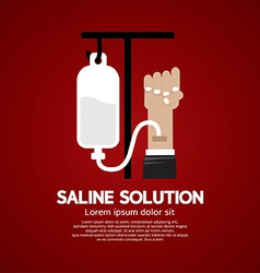 Saline Solution Medical Concept vector image vector image